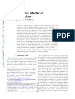 Munoz, SVM and Applications, Statistical Science 2006