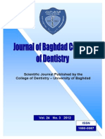 The Journal of the College of Dentistry
