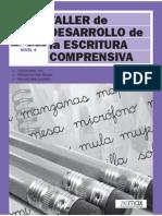TALLER de DESARROLLO de la ESCRITURA COMPRENSIVA 4