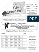 Willy Wonka and Breakfast Ticket Orders Small Flyers