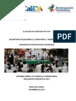 Informe de logros Consejo Comunitarios realizados durante el 2013 - Asesoría de Participación