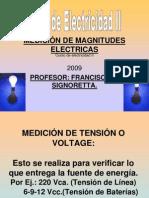Medicion de Magnitudes Electricas