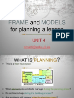 Frame and Models for Planning a Lesson