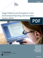 Usage Patterns and Perceptions of the Achievement, Reporting and Innovation System (ARIS) (2012)