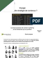Etude Les Best Practices de Content Marketing Dans Le Secteur Du Voyage