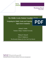 Navigating the Middle Grades and Preparing Students for High School Graduation-Working Brief (2011)