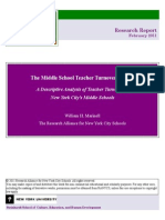 The Middle School Teacher Turnover Project - A Descriptive Analysis of Teacher Turnover in New York City's Middle Schools (2011)