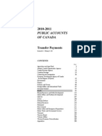 2010-2011 Public Accounts Of Canada - Transfer Payments
