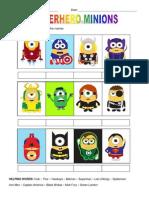 Minions Worksheet