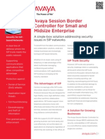 Avaya SBCE SME Platform Fact Sheet - NEM Technology