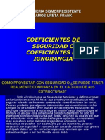 Coeficientes de Seguridad o Coeficientes de Ignorancia