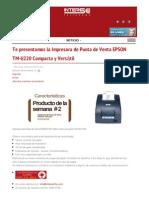 Te Presentamos La Impresora de Punta de Venta Epson Tm u220 Compacta y Versatil Intersoft de Latinoamerica