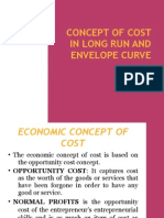 Concept of Cost in Long Run and Envelope