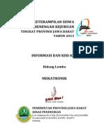 Info & Kisi-Kisi Mekatronik