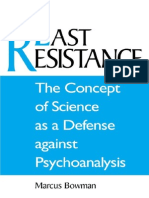 BOWMAN, Marcus. the Concept of Science as a Defense Against Psychoanalysis
