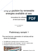 Jorg Sommer - Ship Propulsion by Renewable Energies - Natural Propulsion 2013