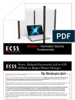 ECSSv3 Module 01 Information Security Fundamentals