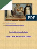Livro de Vocabulário e refercêaancias de tomcás de Aquino
