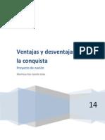 Maritssa Ventajas y Desventajas de La Conquista en Mexico