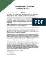 Memorandum of Support - MYD GMO Bill