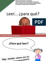 CHARLA COMPRENSIÓN DE LA LECTURA