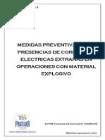 32 Medidas Preventivas Ante Presecia de Corrientes Elc3a9ctricas Extrac3b1as en Operaciones Con Material Explosivo