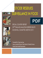 Pesticide Residues Surveillance in Food