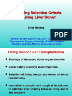 Expanding Selection Criteria for Living Liver Donor