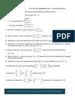 GA - Lista de Exercicios Matrizes e Determinantes
