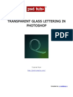 Transparent Glass Lettering in Photoshop
