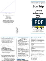 Pioneer Library System Advocacy Day 2014 Bus Flyer