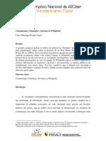 2012 - Carlos SOUSA - Comunicação & Cidadania e Ativismo na Wikipédia