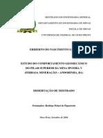 2004 ESTUDO DO COMPORTAMENTO GEOMECÂNICO DO PILAR SUPERIOR