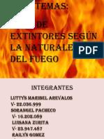 Exposicion de Extintores