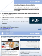 CBS Email Marketing Success Stories - Retail and Other