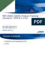 Adva - Training - FSP 150CC-GE20x R4.x Course - 8 - CFM and Y.1731