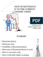 Relevance of Keynesian Theory to the Current Economic