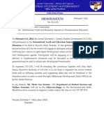 Memorandum 011-1314 International Youth and Educators Summit