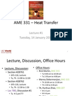 Heat Transfer - Lecture 1