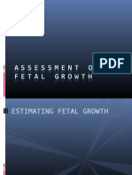 Assessment of Fetal Growth