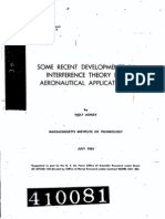 Some recent developments in interferance theory for aeronautical applications