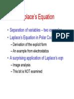 Solving Laplace Equation