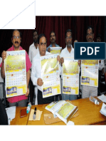 Yoga calendar 2014 Released by District Collector