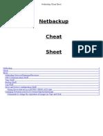 NBU Cheat Sheet for 24x7 Ops