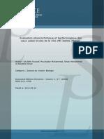 Evaluation Physicochimique Et Bacteriologique SALAMA