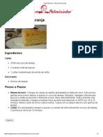 Vovó Palmirinha – Pão-de-ló de Laranja