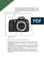 Sebuah Khas Digital SLR Akan Terlihat Seperti Gambar Berikut