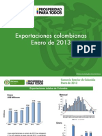 2013 Exportaciones Enero