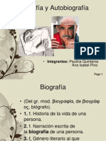 Biografía y Autobiografía