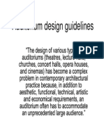 Auditorium Design Guidelines